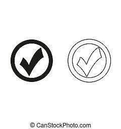 check mark - green vector icon