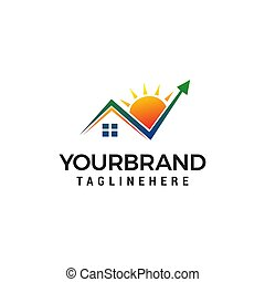 Check mark Home Logo design concept template vector