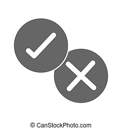check mark icon. checkmarks flat line icons set. Vector illustration on white background