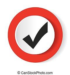 Check mark icon. Flat design style. Vector