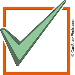 check mark icon i, vector illustration.