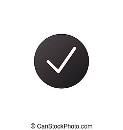 Check mark icon isolated on white background. Vector illustration.