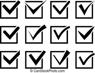 Check mark icon set