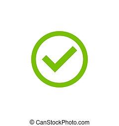 Check mark icon simple design