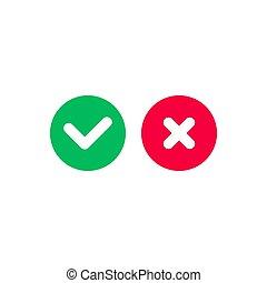Check mark icon. Symbol, logo illustration for mobile concept and web design.