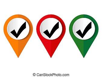 check mark icon vector illustration..