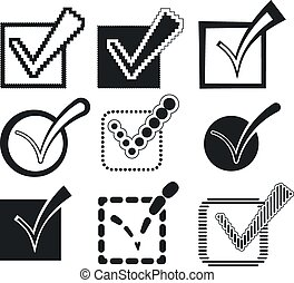 Check Mark Icons Set, Vector