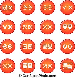 Check mark icons vector set
