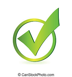 Image of a green check mark isolated on a white background.