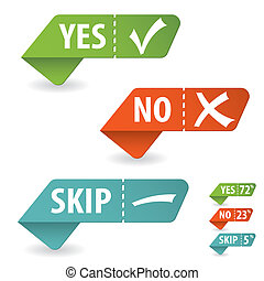Check Mark - Collect Sticker with Yes, No and Skip Check...