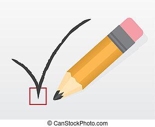 Check Mark Large Pencil