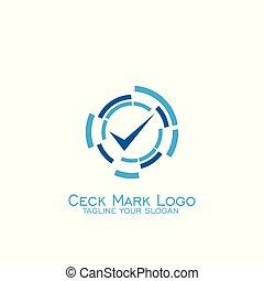 Check mark logo design,