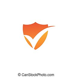Check mark logo design vector template