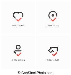 Check mark logo set 01
