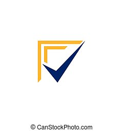 Check mark logo template vector design.