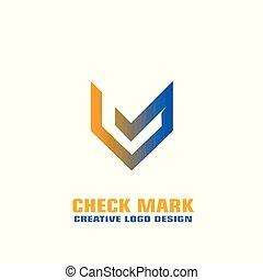 Check mark logo vector design