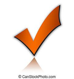 Check mark - Orange check mark