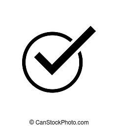 Check mark outline icon. Symbol, logo illustration for mobile concept and web design.
