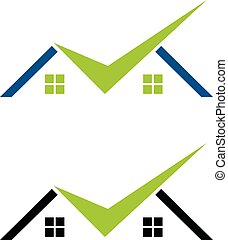 Check Mark Real Estate Logo Template Illustration Design. Vector EPS 10.