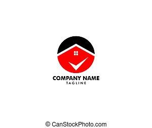 Check Mark Real Estate Logo Template