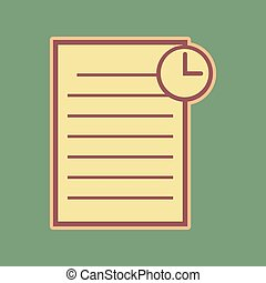 Check mark sign illustration. Vector. Cordovan icon and mellow a