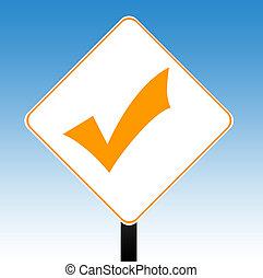 Check mark sign