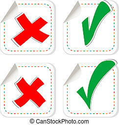 check mark stickers set
