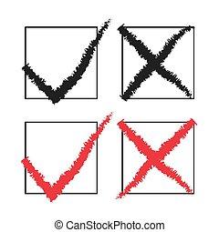 Check Mark Stickers Vector illustration
