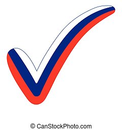 Check mark style Russia flag elections, voting - Check mark ...