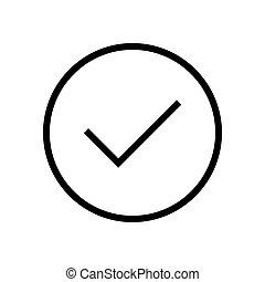 Check mark symbol icon vector illustration