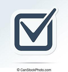 Check mark symbol. Vector tick icon