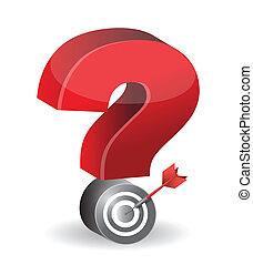 check mark target illustration design