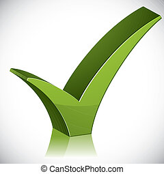 Check mark tick. - Check mark tick 3d vector icon isolated...