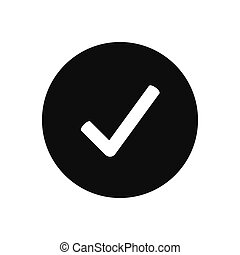 Check mark vector icon, tick symbol in modern design style for web site and mobile app