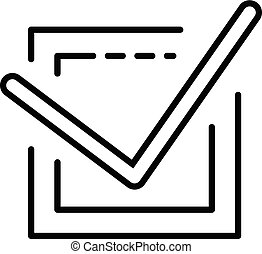Check mark vote icon, outline style