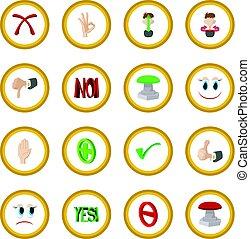 Check mark Yes and No icon circle