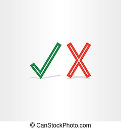 check mark yes and no symbol design element