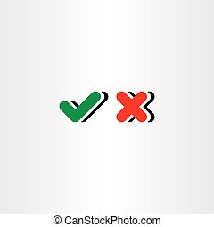 check mark yes and no vector icon