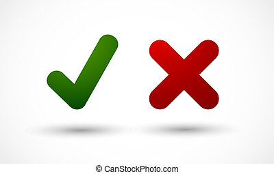 check marks yes no vector background