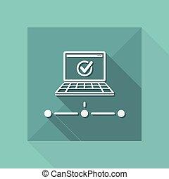 Check network - Flat minimal icon