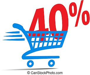 Check Out Cart SALE Icon Symbol