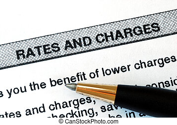 Check out the rates and charges from a bank statement