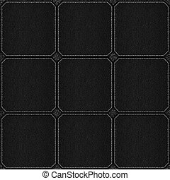 check pattern leather black background