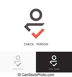 Check person logo