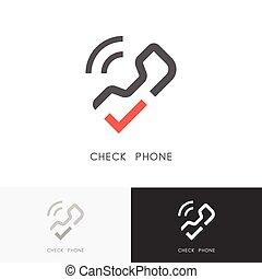 Check phone logo