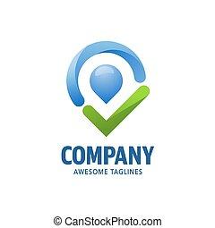 check point logo concept