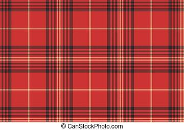 Check red tartan seamless pattern
