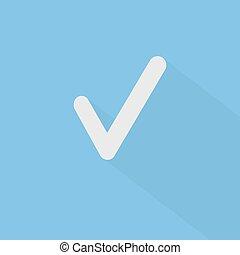 Check Symbol - Check mark symbol in flat design. EPS10...