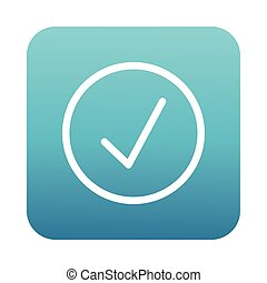 check symbol interface block gradient style icon vector illustration design