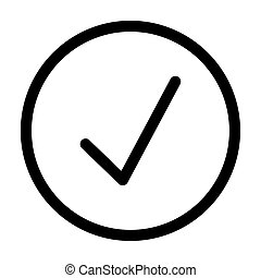 check symbol interface line style icon vector illustration design